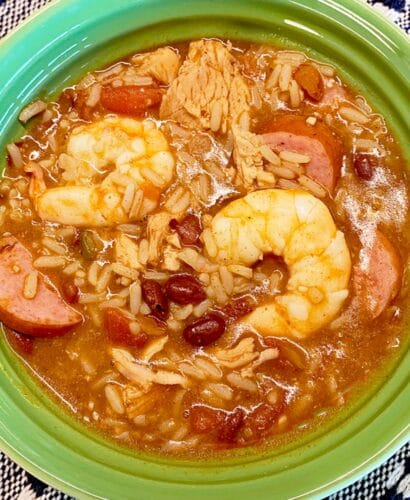 Simple Semi Homemade Jambalaya (Sausage, Chicken, and Shrimp) 10