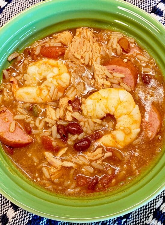Simple Semi Homemade Jambalaya (Sausage, Chicken, and Shrimp) 5