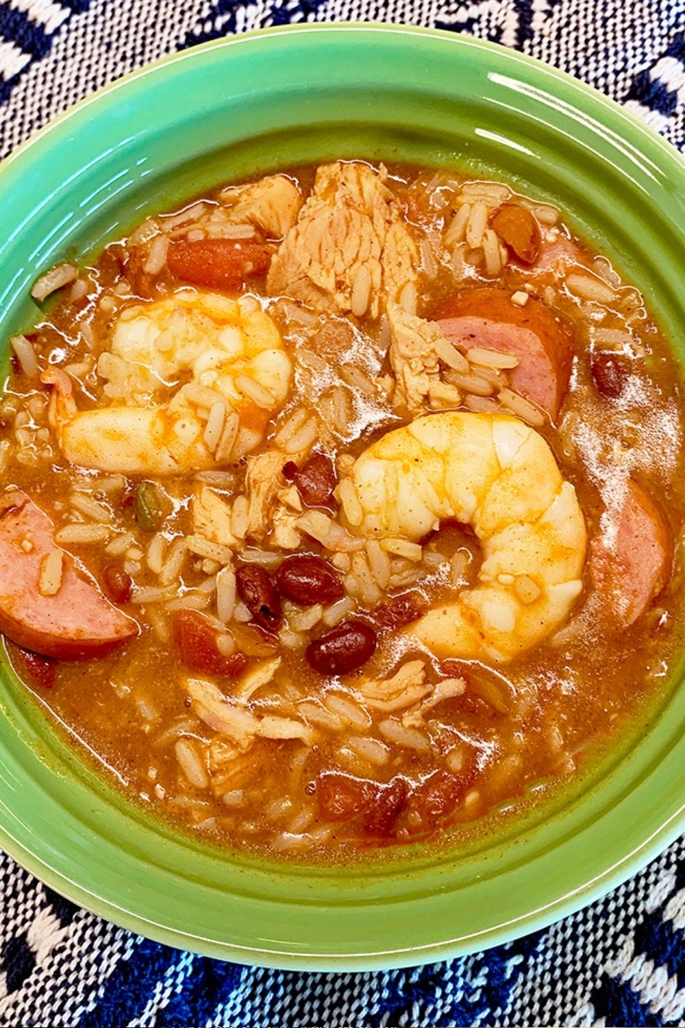 Simple Semi Homemade Jambalaya (Sausage, Chicken, and Shrimp) 14