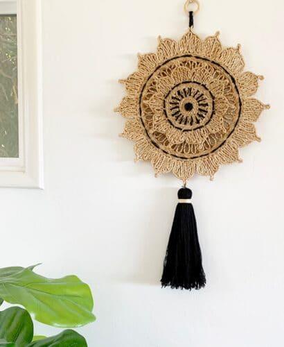 Woven Sun Wall Hanging 32