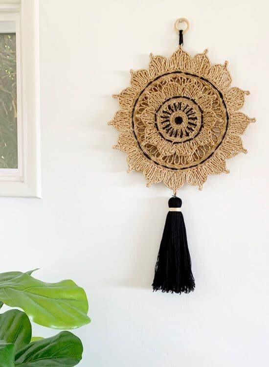 Woven Sun Wall Hanging 2