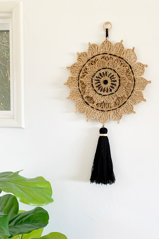 Woven Sun Wall Hanging