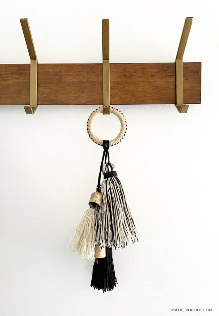 Leather door tassel