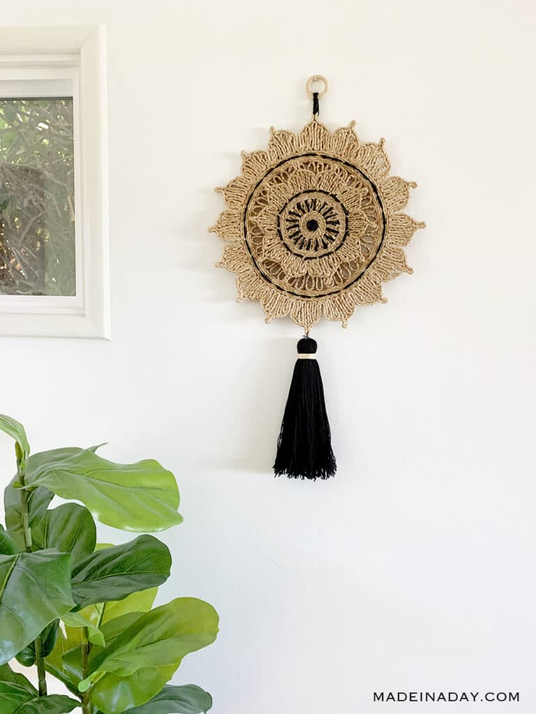 Woven Sun Wall Hanging Made In A Day