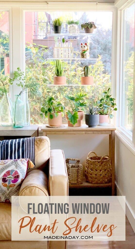 Floating Window Plant Shelf Garden