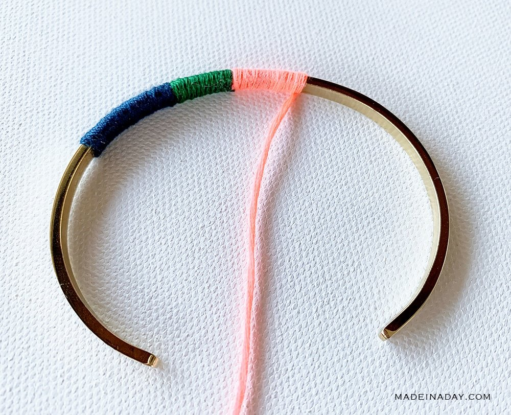 colorful wrapped bracelet