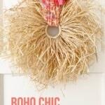Fall Boho Raffia Wreath DIY 1