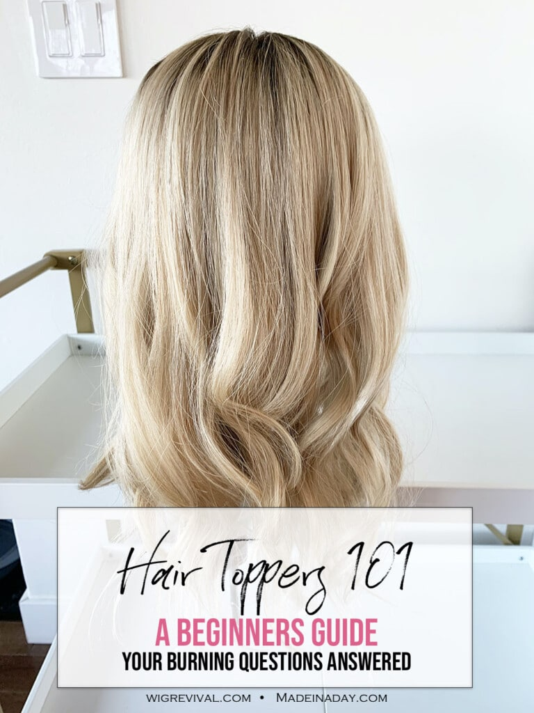 How to choose a Hair Topper? A Newbies Guide, hair topper 101, what is a hair topper, wiglet guide, hairpiece guide