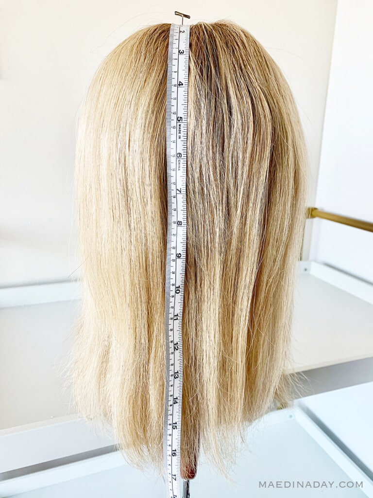 how to measure your hair for a hair topper