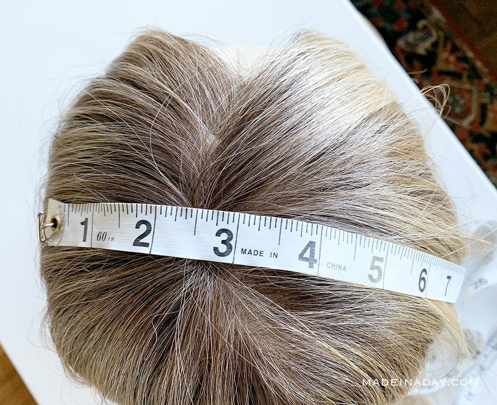 how to measure your hair for a topper
