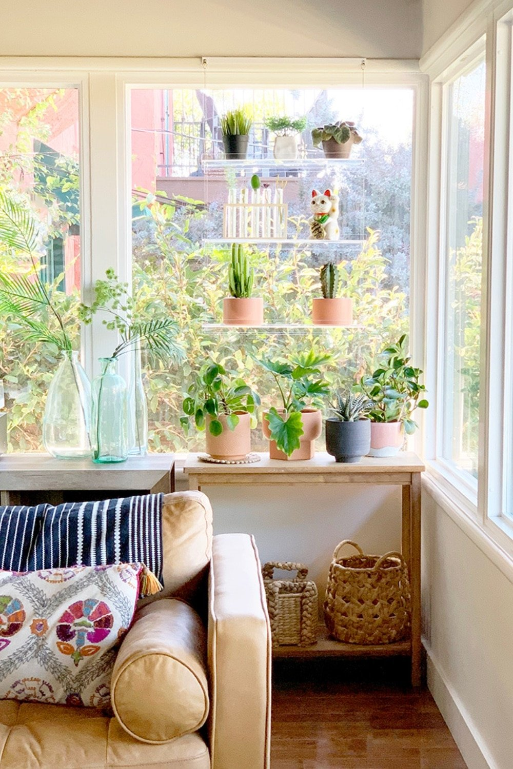 Catching Rays with Window Plant Shelves
