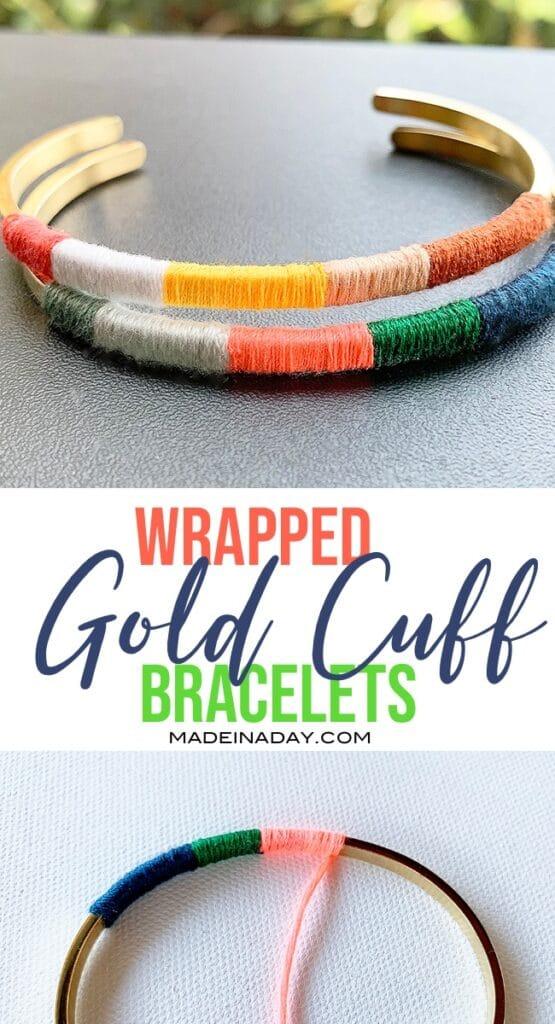 DIY bracelet, DIY jewelry, cuff bracelet