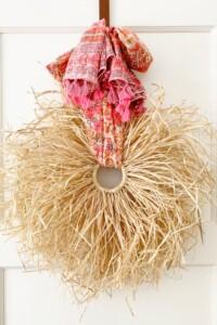 Fall Boho Raffia Wreath DIY