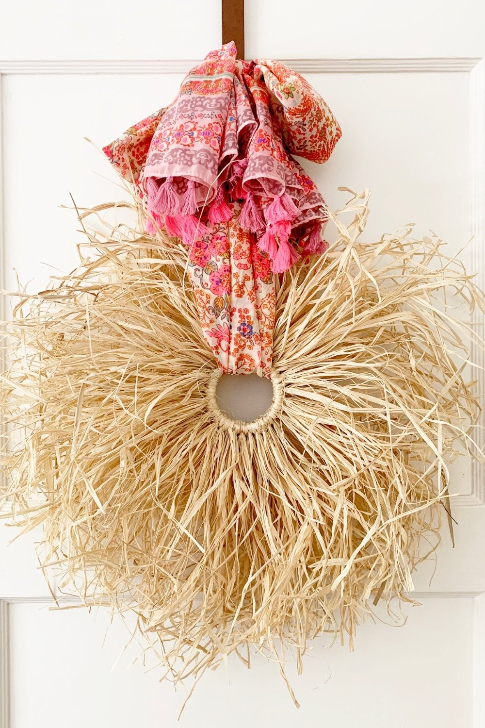 Fall Boho Raffia Wreath DIY