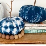 How to Make 3 Shibori Fabric Pumpkins 1