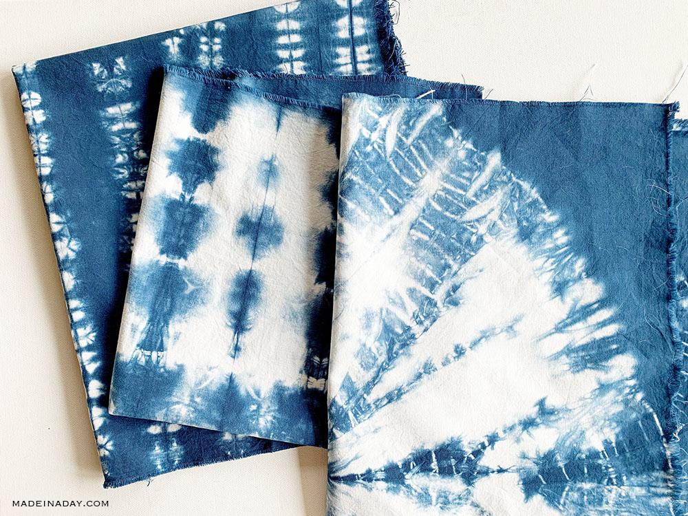 handmade shibori fabric