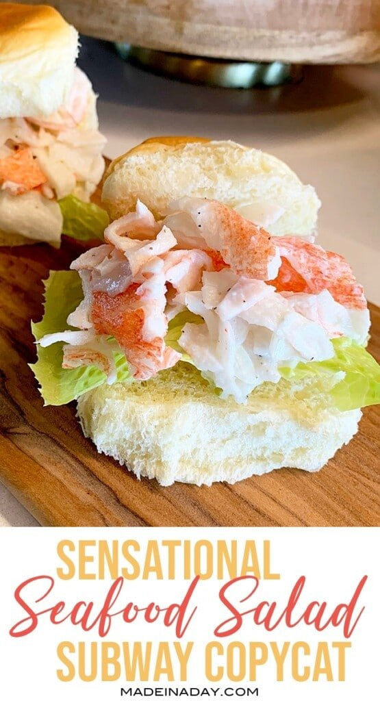 Seafood sensation crab sandwich recipe, neptune salad recipe, Which wich krab salad