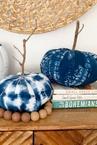 How to Make 3 Shibori Fabric Pumpkins
