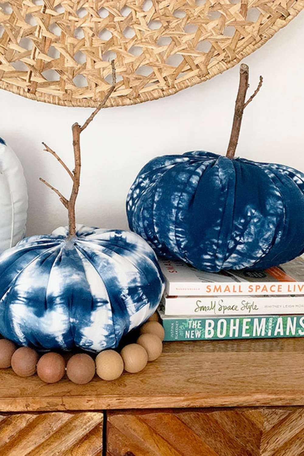 How to Make 3 Shibori Fabric Pumpkins