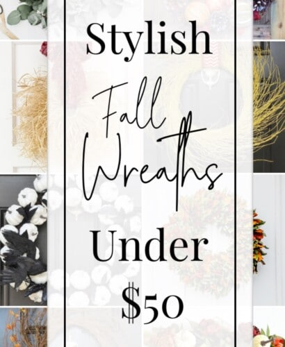 Stylish Yet Affordable Fall Wreaths Under $50 12