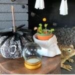 3 Halloween Felt Ball Garlands (Ghosts-Cats-Spiders) 1