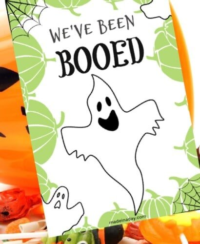 You've Been Booed Halloween Printable Treat Game 3