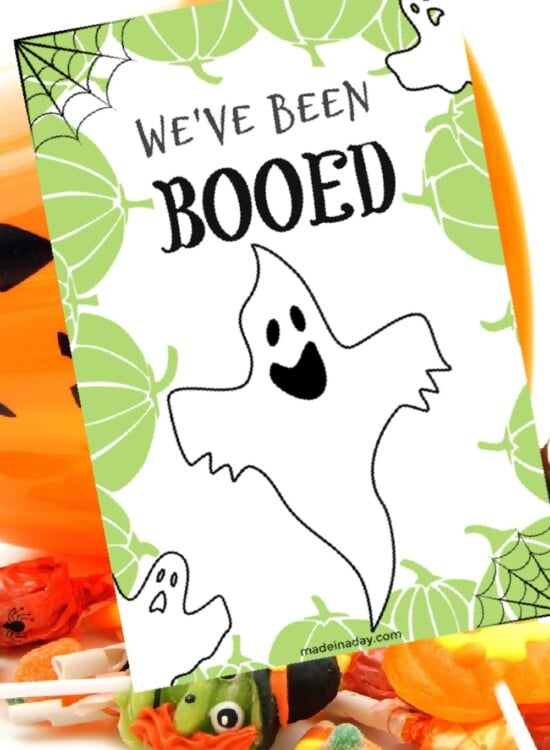 You've Been Booed Halloween Printable Treat Game 2