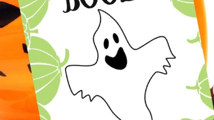 3 Halloween Felt Ball Garlands (Ghosts-Cats-Spiders) 13