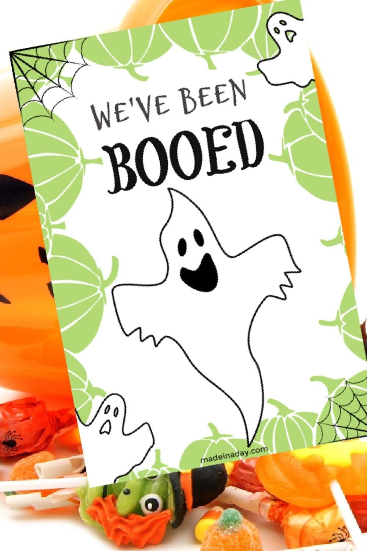 You've Been Booed Halloween Printable Treat Game