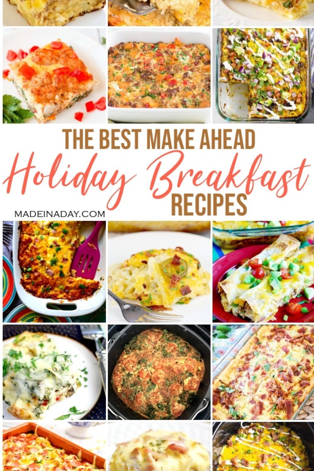 24 Holiday Breakfast Casseroles Made the Night Before