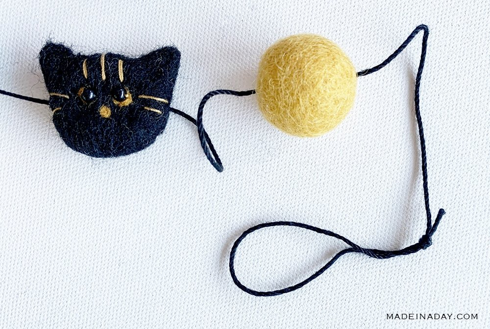 how to string a felt ball garland