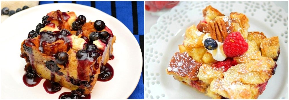 overnight french toast raspberry