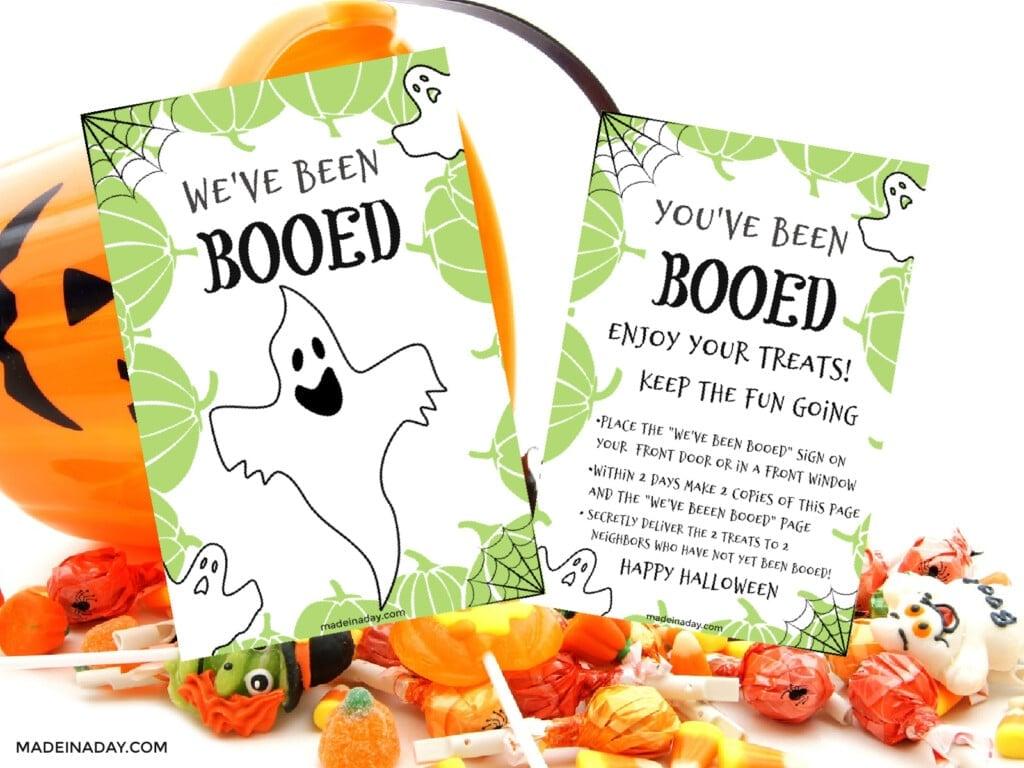 You've Been Booed Halloween Printable Treat Game, you've been booed gift ideas, we've been booed