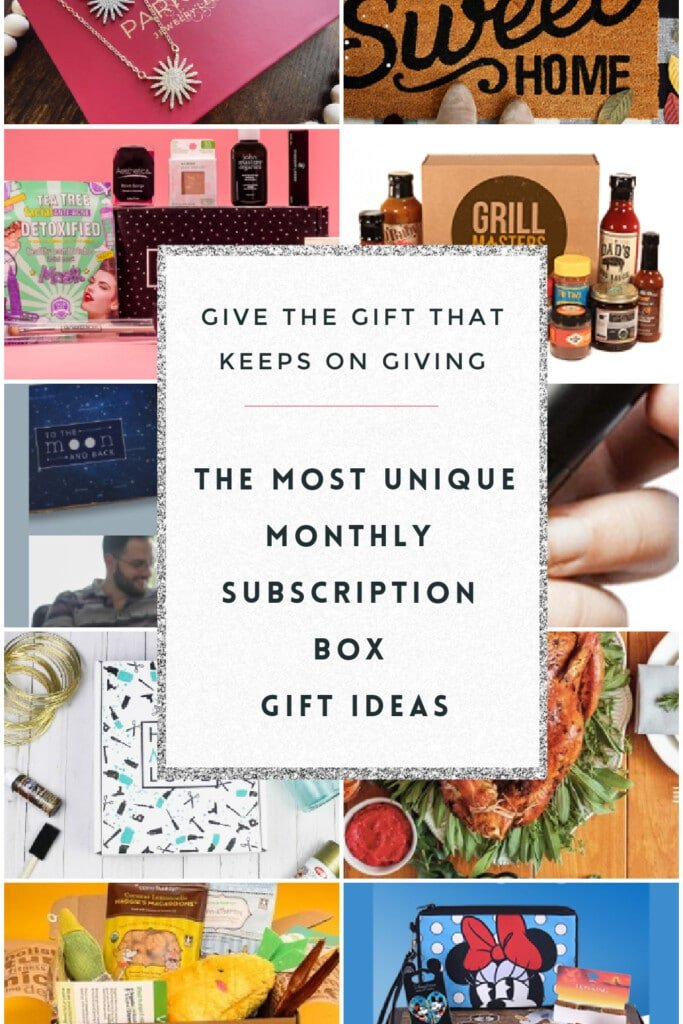 Coolest Monthly Subscription Box Gift Ideas
