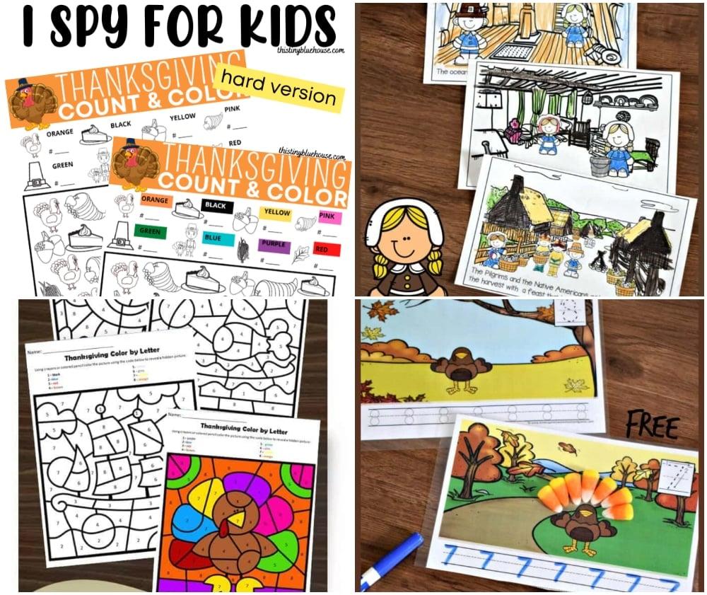 Printable Thanksgiving Kids Activities, kids thanksgiving Coloring Sheets