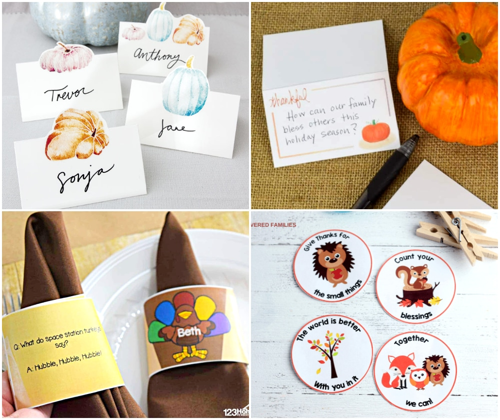 thanksgiving printable place cards,
