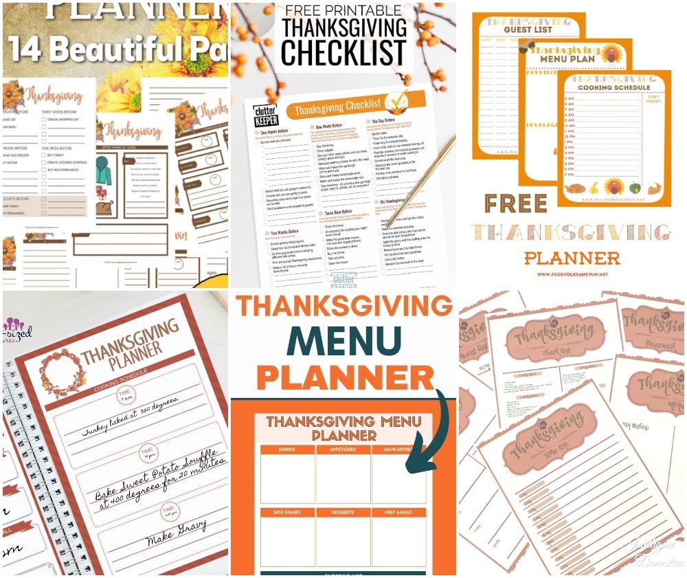 thanksgiving planner printables, thanksgiving checklist printable