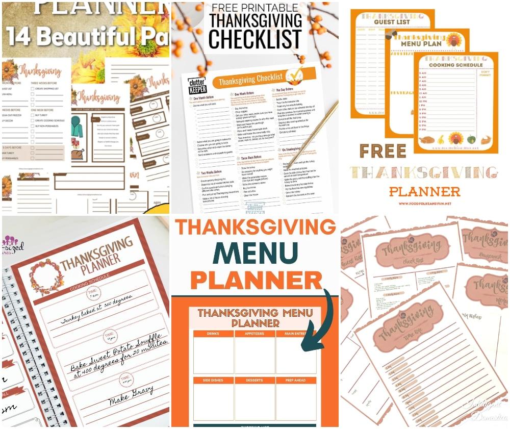 thanksgiving planner printables, thanksgiving checklist printable