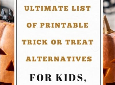 Ultimate List of 60+ Printable Trick or Treat Alternatives (Kids to Adults)