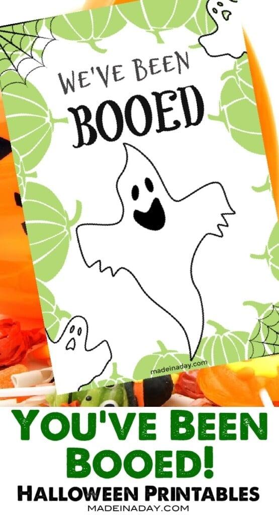 You've Been Booed Halloween Printable Treat Game, we've been booed, Halloween booed