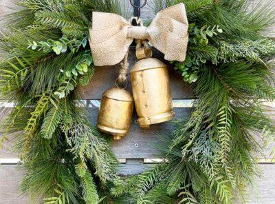 Boho Christmas Harmony Bell Wreath