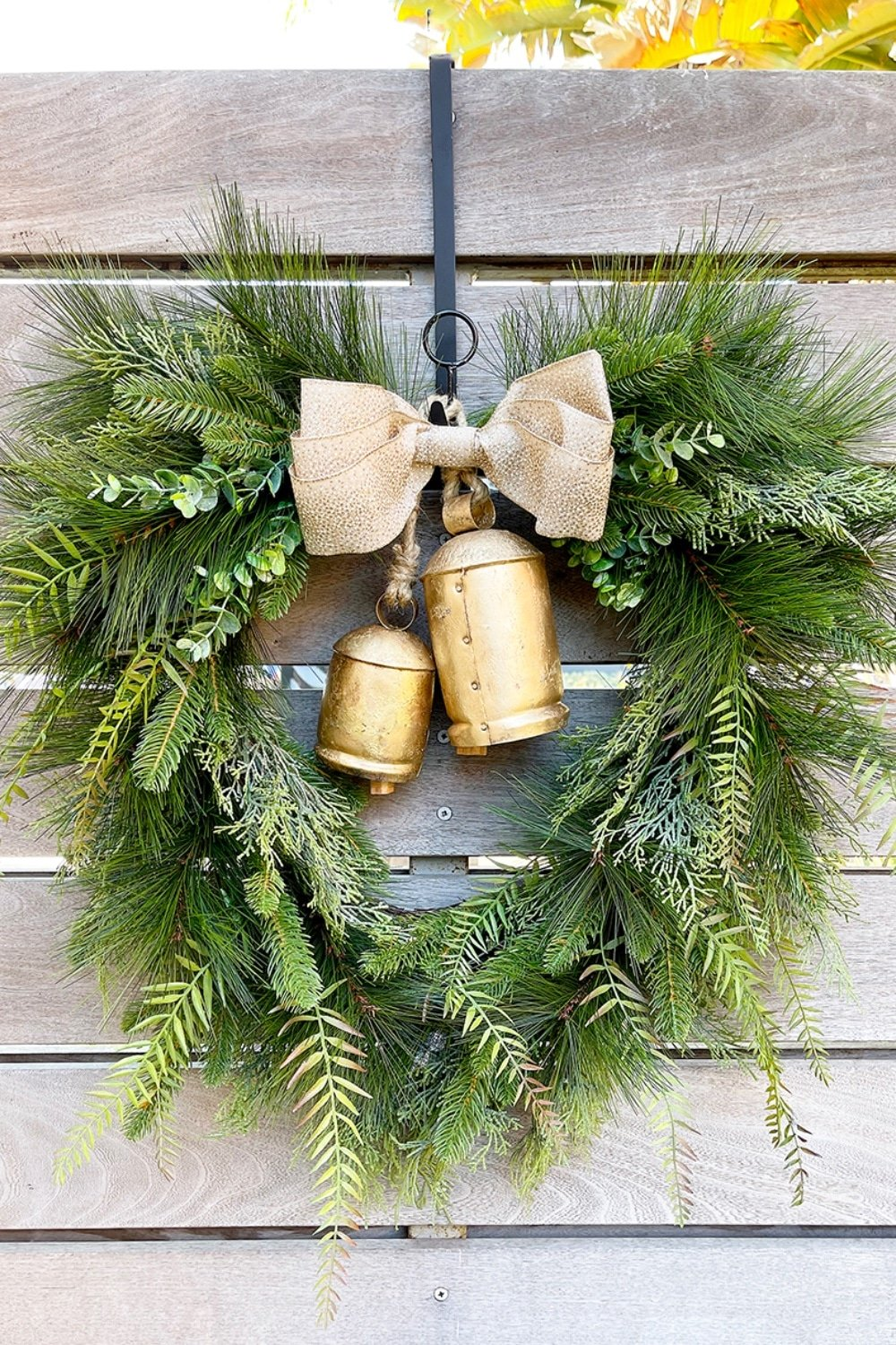 Boho Christmas Harmony Bell Wreath