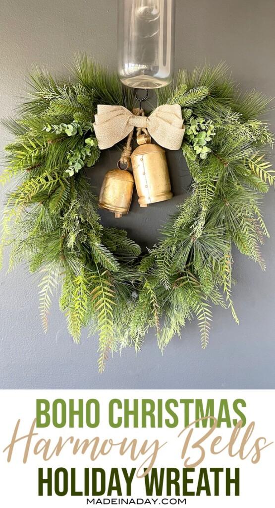 bohemian christmas wreath