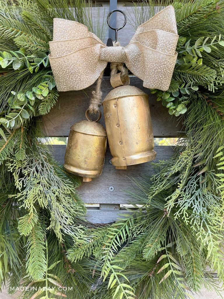 harmony bell christmas wreath