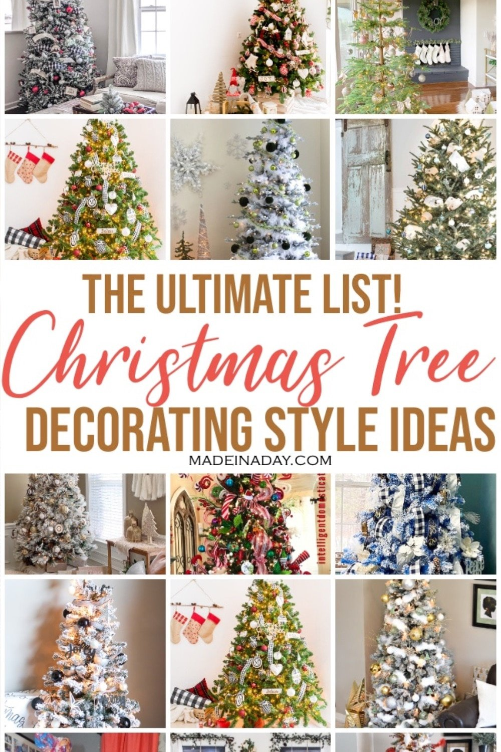 Ultimate List of 40 Christmas Tree Decorating Styles