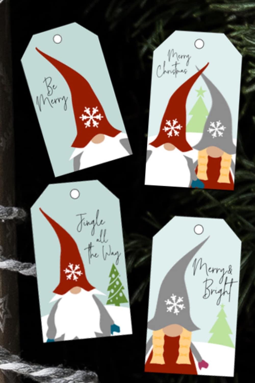 Printable Christmas Gnome Gift Tags