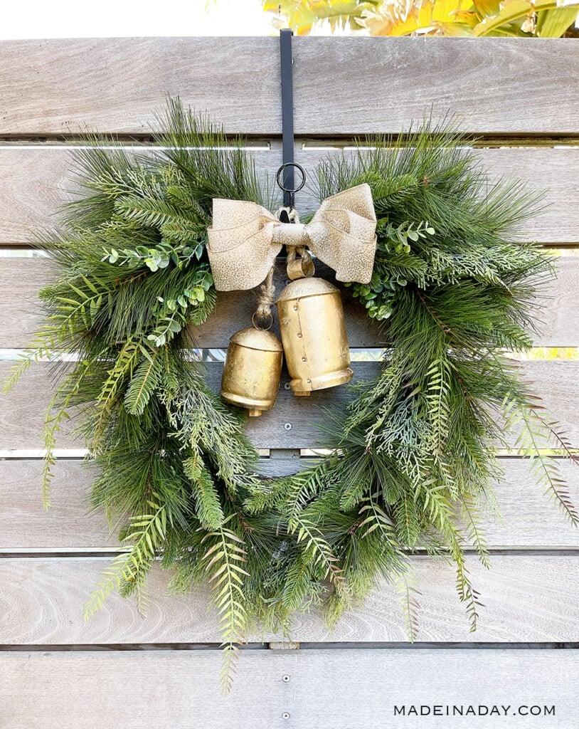 christmas harmony bell wreath