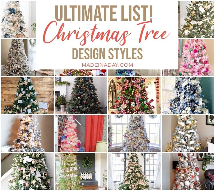 Ultimate List of Christmas Tree Decorating Styles