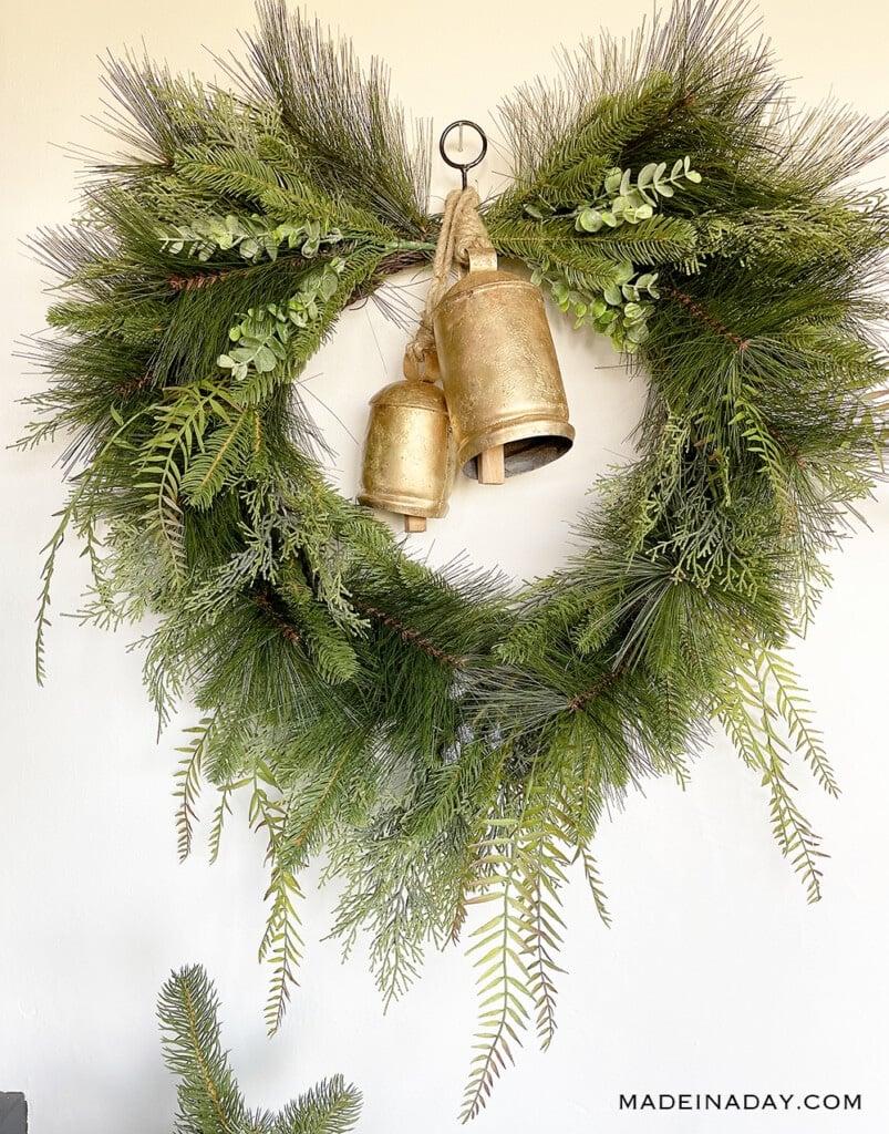 harmony bell wreath, christmas bell wreath