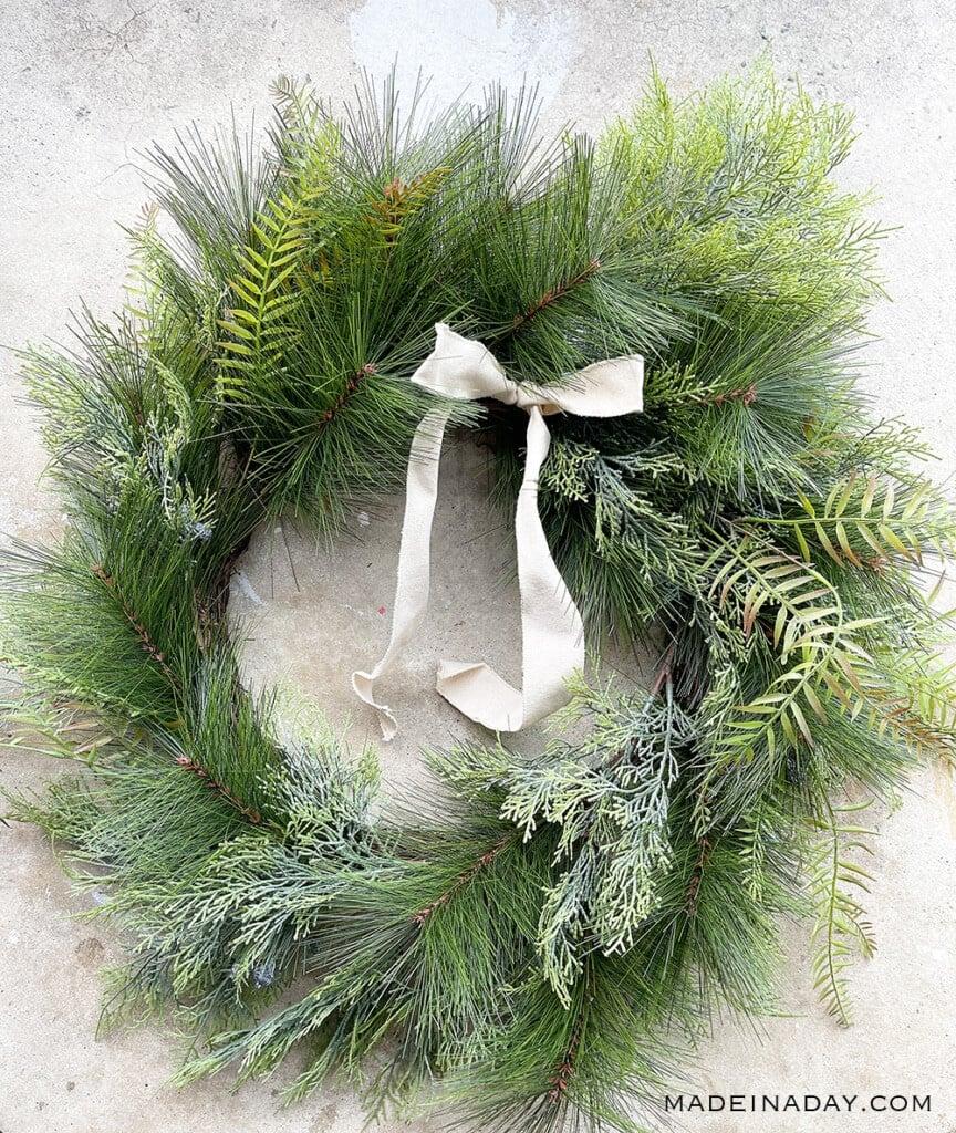 threshold long needle blueberry wreath